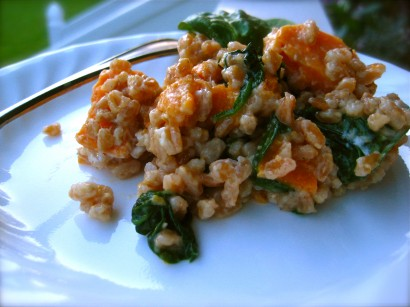Sweet Potato and Spinach Farro Risotto | Natur-Tyme Blog